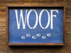 Handmade Wood Sign Rustic Wall Art Dog Decor by CrowBarDsigns, $20.00