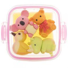 Animal Bento Box Erasers Pink