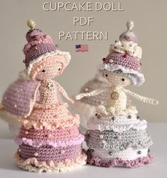 Cupcake doll crochet amigurumi - ENGLISH PDF PATTERN Mehr
