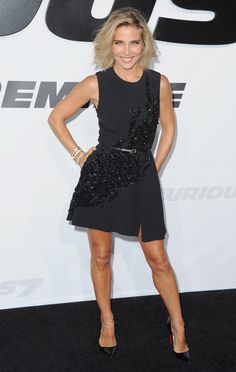 Elsa Pataky wears ELIE SAAB Ready-to-Wear Spring Summer 2015 to the Universal Picture Premiere of 'Furious 7' in Los Angeles.
