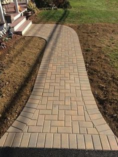 awesome walkway design ideas for front yard landscape 1 Sand Patio, Outdoor Patio Pavers, Paver Sand, Paver Stones, Backyard Walkway, Stone Patio Designs, Paver Designs, Brick Garden, Garden Paths