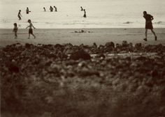 Busy beach. Gelatin silver print. Copyright Andrew sanderson. www.andrewsanderson.com Black and White photography, Analogue, Film.