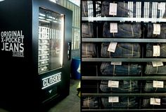 Closed, a jeans brand in Italy, unveils their vending machine