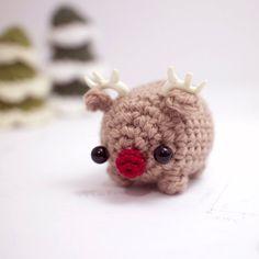 Rudolph reindeer plush - crochet Christmas amigurumi by mohustore
