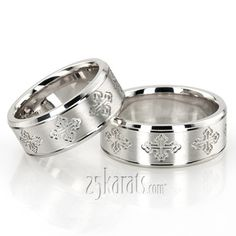 Cross Cut Designer Wedding Band Set #weddingband #25karats