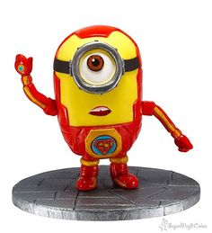 Iron man minion cake