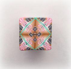 Gold Pink Green Kaleidoscope Cane 2 | Flickr - Photo Sharing!