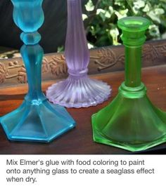 Create a Seaglass Effect on Glass