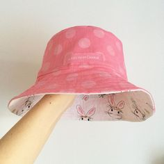 Such a sweet reversible hat made with Melissa Mortenson's Wonderland fabric line #iloverileyblake #fabricismyfun
