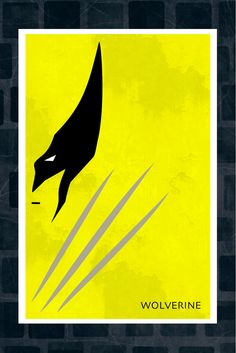 Minimalist X-MEN Art Poster of Wolverine 11x17. $13.99, via Etsy.