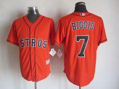 Houston Astros #7 Craig Biggio Alternate Orange 2015 MLB Cool Base Jersey