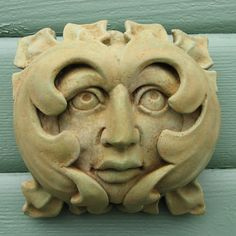French Greenman Plaque Stepping Stone