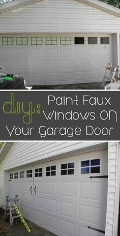 17 easy and cheap curb appeal ideas anyone can do on a budget paint faux windows on your garage door 31 easy diy upgrades that will make solutioingenieria Gallery