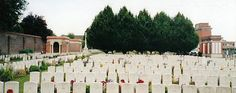 From 10 1914 - 9 1917, CCS were posted at Hazebrouck. The Germans bombed the town between 9 1917 - 9 1918 making it unsafe for hospitals. In 9 - 10 1918, No 9 British Red Cross Hsptl was stationed there. Commonwealth burials began in Hazebrouck Communal Cemetery 10 1914 & continued until 7 1918. At first, they were made among the civilian graves, after the Armistice these earlier burials were moved into the main Commonwealth enclosure. Contains 877 WWI Commonwealth burials. 17 are…