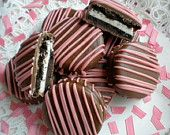 Chocolate Brown and Pink Chocolate Covered Oreos Cookies Baby Shower Party Favors Wedding Favors It's a Girl