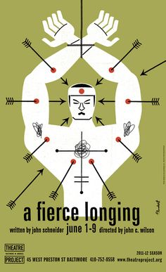 """""""A Fierce Longing"""" Theatre Project Poster by Spur"""