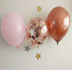 Picture of Blush Pink Copper Balloons Rose Gold Confetti Gold Confetti Balloons, Pink Balloons, Copper And Pink, Balloon Bouquet, The Balloon, Color Themes, Blush Pink, Rose Gold, Baby Shower