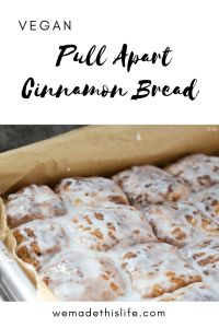 This vegan pull apart cinnamon bread is so delicious, it's really moreish and the children love it just as much as me! Vegan Breakfast Recipes, Delicious Vegan Recipes, Vegan Desserts, Brunch Recipes, Delicious Desserts, Dessert Recipes, Yummy Food, Vegan Foods, Breakfast Ideas