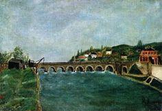 View of Post de Sèvres and of Saint-Cloud - Henri Rousseau - The Athenaeum