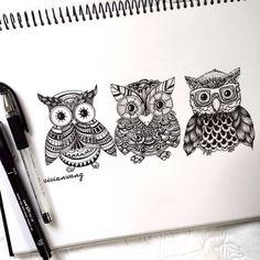 drawing Illustration art cute adorable Black and White beautiful aztec b&w animal creative tattoo artist amazing creativity owl artistic hipster art art blog art work pen drawing owl drawing zentangle hipster owl hipster patterns