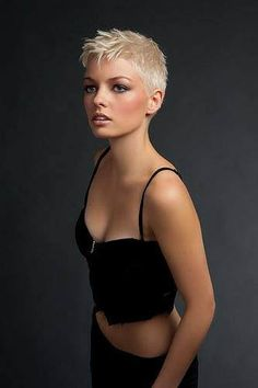Short blonde pixie