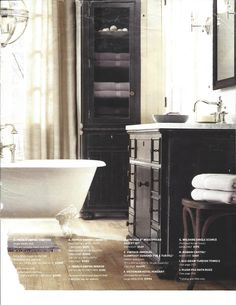 French empire vanity and cabinets glass top master linen