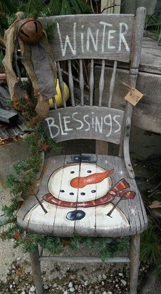 Winter Blessings Painting Pattern Only is part of Christmas crafts - This adorable Snowman Pattern can be painted on any surface So adorable for craft shows Listing is for pattern only Christmas Chair, Primitive Christmas, Christmas Signs, Country Christmas, Rustic Christmas, Christmas Art, Christmas Projects, Winter Christmas, Christmas Ornaments