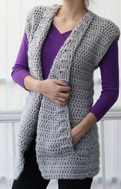 52 Wonderful and Cool Crochet Cardigan Pattern Ideas - Page 21 of 52 - Beauty Crochet Patterns! Diy Crochet Vest, Diy Crochet Patterns, Gilet Crochet, Crochet Cardigan Pattern, Crochet Jacket, Crochet Braids, Crochet Clothes, Free Crochet, Knit Crochet