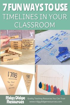 Reading, writing and analysing timelines is a requirement of the Australian Curriculum but it should not have to be a chore for you or your students! Here are seven simple, yet effective, ways to get your students involved in practising timeline reading a Social Studies Projects, Social Studies Notebook, 5th Grade Social Studies, Social Studies Classroom, Social Studies Activities, History Classroom, Teaching Social Studies, Teaching History, History Education