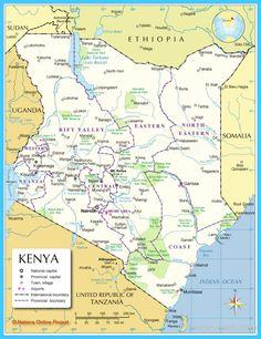 nice Map of Kenya