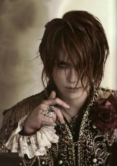 Visual Kei Singer Kamijo-  Screw twilight, this is a hot vampire looking guy!