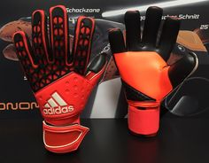ADIDAS :: ADIDAS GOALKEEPER GLOVES 2015/2016 :: ADIDAS ACE ZONES PRO SOLAR RED (NEGATIVE CUT) - Goalkeepers Online Shop Pro Keepers Line
