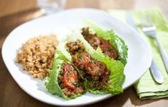 Romaine Wrapped Spicy Lentil Tacos