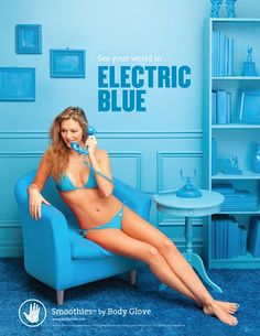 Body Glove Smoothies Campaign  By Brune & Blonde  Color - Electric Blue