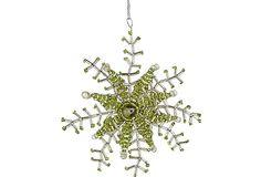 Hand Beaded Snowflake Ornament on OneKingsLane.com