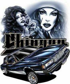 Lowrider Tattoo, Arte Lowrider, Hipster Drawings, Car Drawings, Og Abel Art, Carros Audi, Latina, Aztecas Art, Chicano Love