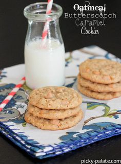 Butterscotch Oatmeal Caramel Cookies from @Jenny Flake, Picky Palate