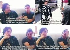 Life on the murder scene XD The voice Gerard did, too!!