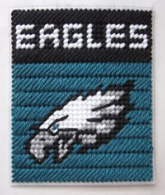 Philadelphia Eagles tissue box cover in plastic canvas PATTERN ONLY. $2.00, via Etsy.