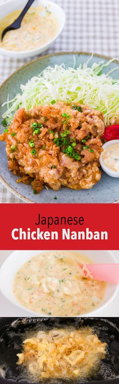 Authentic Chicken Nanban recipe, made with fried chicken coated in a crispy egg batter that's soaked in a sweet and sour nanban sauce.