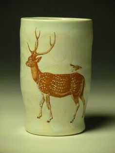 deer and bird tumbler