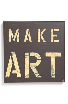 Third and Wall Art 'Make Art' Sign available at #Nordstrom