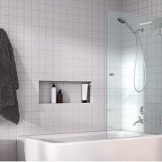 A Glass Warehouse frameless shower door can instantly make your bathroom look bigger and brighter, adding a fresh and modern feel yet having the versatility to complement any bathroom style. The range of Bathtub Shower Doors, Frameless Shower Doors, Glass Shower Doors, Bathroom Showers, Bathroom Tubs, Small Bathrooms, Basement Bathroom, Bathtub Glass Panel, Bathrooms Decor