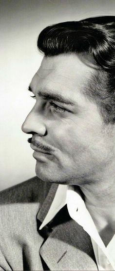 """""""The King of Hollywood,"""" Clark Gable. Gable was best known for his role as """"Rhett Butler"""" in the epic 1939 film Gone with the Wind, for which he received his third Academy Award nomination. Hollywood Men, Hooray For Hollywood, Golden Age Of Hollywood, Vintage Hollywood, Hollywood Stars, Classic Hollywood, Hollywood Icons, Carole Lombard, Clark Gable"""