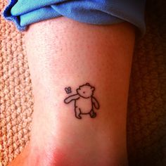 Winnie the Pooh original tattoo. Because Winnie is my childhood all wrapped up