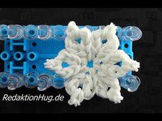 Loom Bands Rainbow Loom Eiskristall Schneeflocke Stern Weihnachten Deutsch - Veronika Hug - Snowflake charm on the loom
