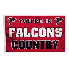 In Falcons Country Flag for Atlanta Falcon Man Caves and Tailgating
