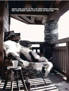 """pinner says, """"Kult på terrassen """" I say love the fur"""