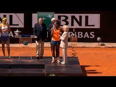2013 Italian Open Trophy Presentation: 2X Rome Champion & World #1 Serena Williams's Italian Acceptance Speech & post-Final celebration. <3 <3 <3
