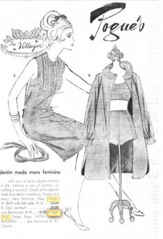 1964 - Denim fashions by The Villager.